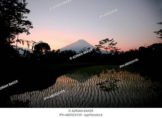 Indonesia Central Java Mount Merapi at sunrise Mount Merapi is an active volcano