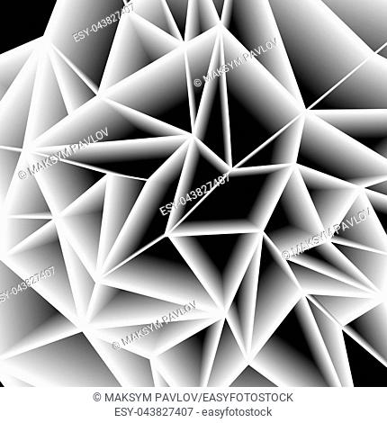 Abstract paper gray triangle background, low poly design. Polygonal style vector illustration
