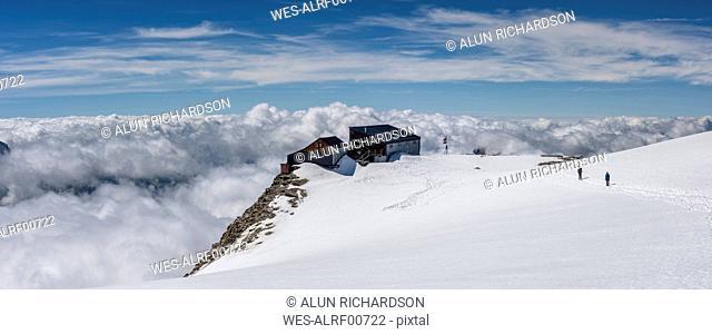 Italy, Gressoney, Alps, Quinta Sella hut