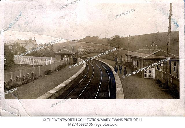 Railway Station, Hillfoot , Bearsden, near Glasgow, Dunbartonshire, Scotland
