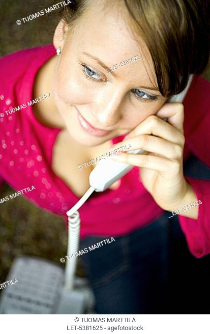 Woman with phone