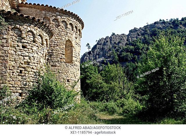 St Pere de Gruadescales, Romanesque s. X, Solsones, Catalonia, Spain