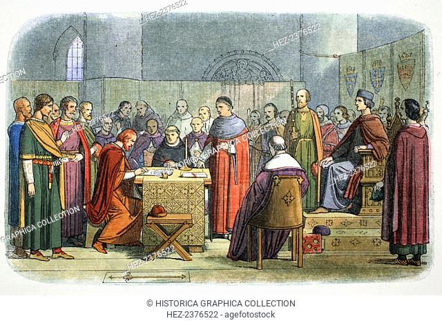 Edward I of England acknowledged as suzerain of Scotland, 1290 (1864). Edward I (1239-1307) was asked to arbitrate on the issue of the succession to the...