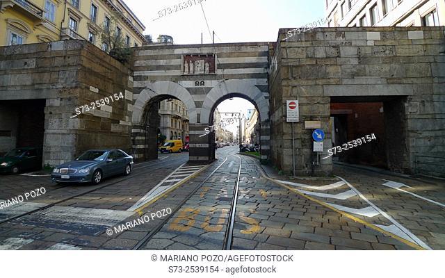 A. Manzoni Street, Archi di Porta Nuova, Milano, Italy