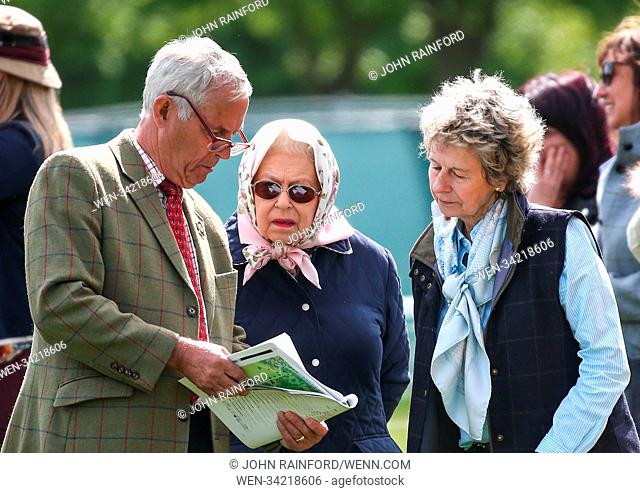 Royal Windsor Horse Show - Day 3 Featuring: Queen Elizabeth II, Stud Groom Terry Pendry Where: Windsor, United Kingdom When: 11 May 2018 Credit: John...