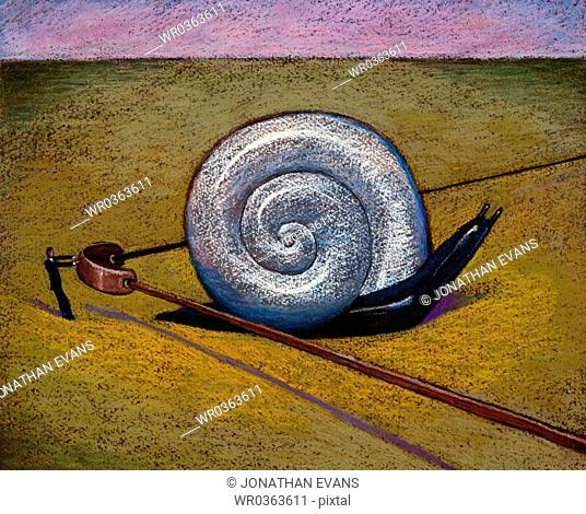 Man Catapulting Snail