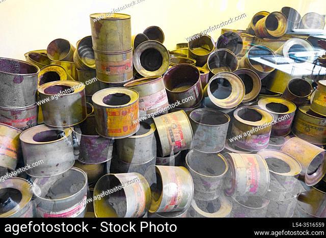 Empty Gas Cans Auschwitz Birkenau Concentration Camp OŠ›wiÄ. cim Museum Southern Poland Europe EU UNESCO