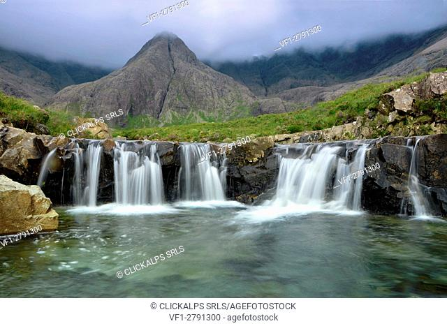 Fairy pools waterfall, Skye Island,Scotland Europe
