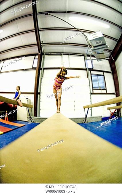 balance beam practice