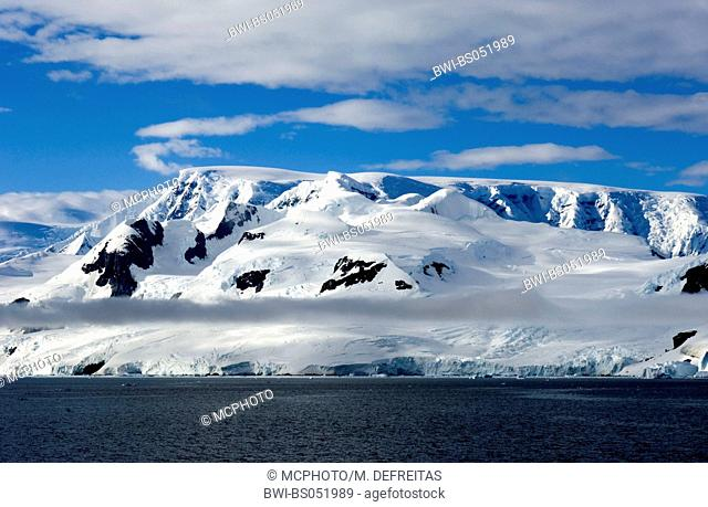 dark clouds over antartic coast, Antarctica