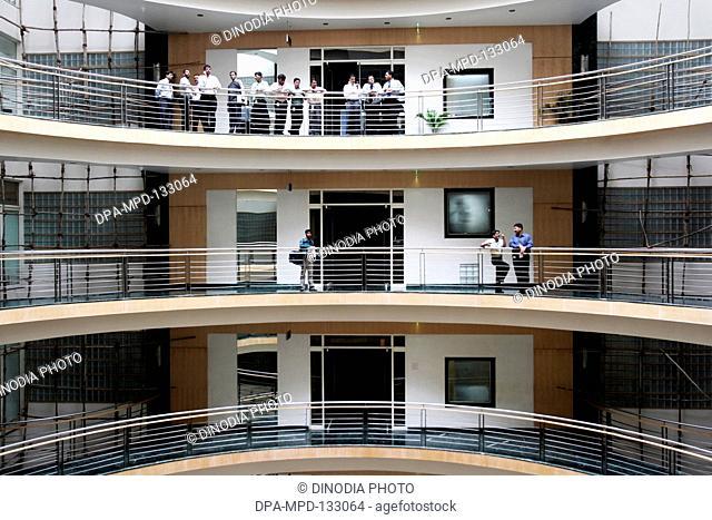 Interiors of newly constructed Peninsula Towers called Peninsula Corporate park at Lower Parel ; Bombay Mumbai ; Maharashtra ; India