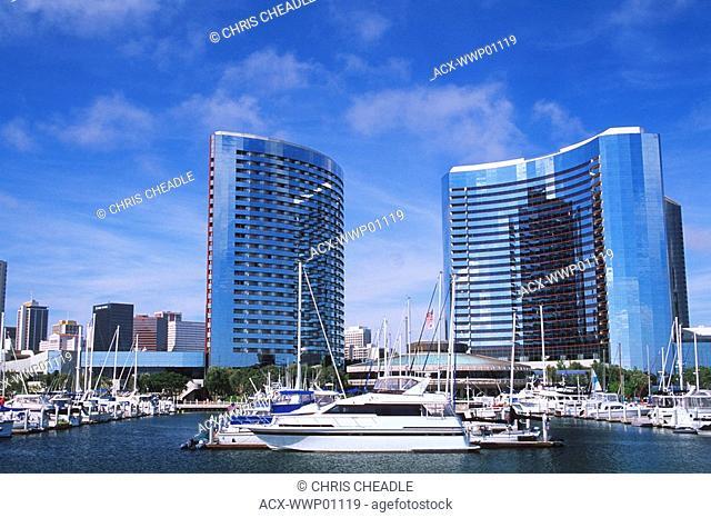 USA, California, San Diego marina area