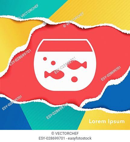 Goldfish bowl icon