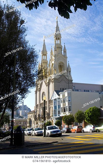Saints Peter and Paul Catholic Church,San Francisco, California, USA