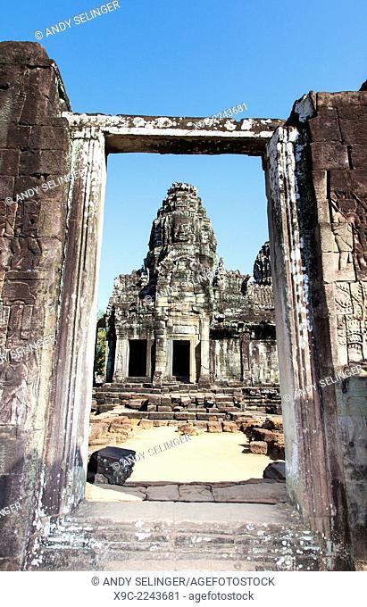 The Bayon Temple in Central Angkor Thom, Angkor, Cambodia