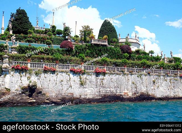 Gardens of Palazzo Borromeo at Isola Bella, Lago Maggiore, Piedmont, Italy