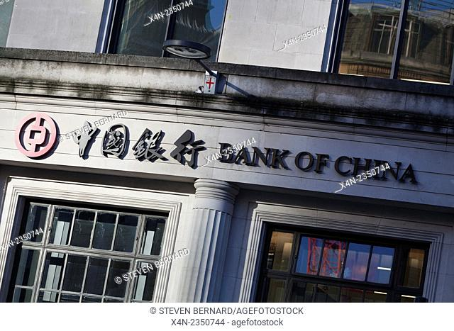 Bank of China London headquarters at One Lothbury, London, UK