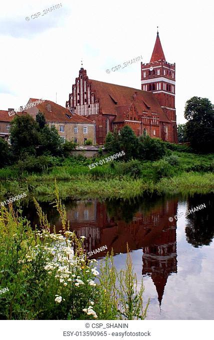 Church near lake