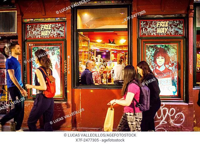 Free Way Bar, Calle Corredera Alta de San Pablo 17. Madrid, Spain