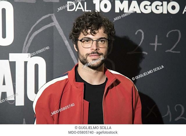 The italian actor and youtuber Guglielmo Scilla at the photocall of the film Tonno Spiaggiato, directed by Matteo Martinez with Frank Matano at the Cinema Anteo