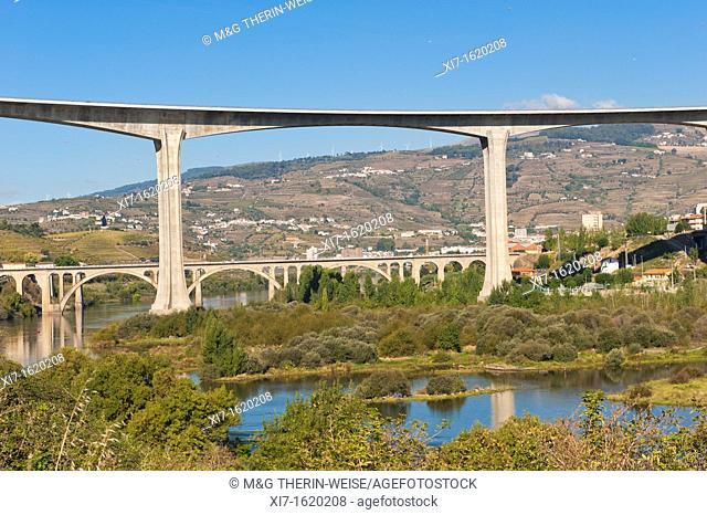 Viaduct at Peso da Regua, Alto Douro, Tras-os-Montes, Portugal