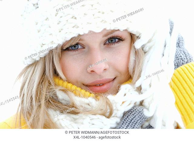 Young Woman in Winter Holiday