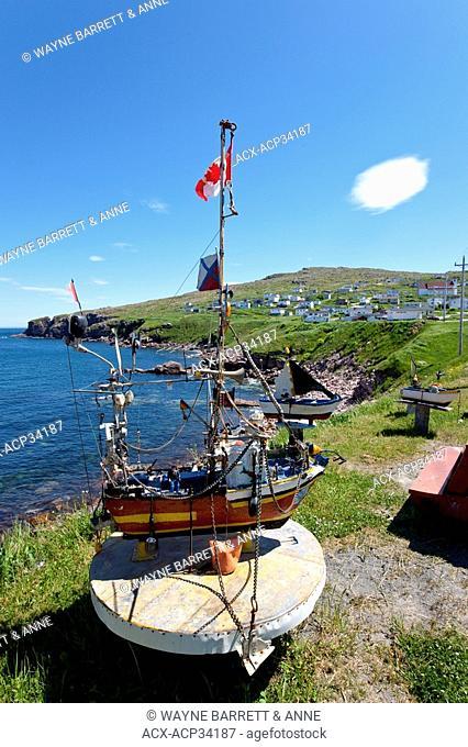 Marine Folk Art displayed along the coastline of Bay De Verde, Newfoundland and Labrador, Canada