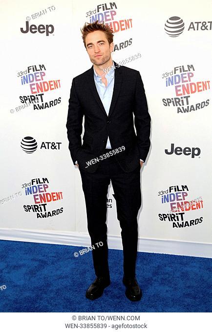 Celebrities attend 2018 Film Independent Spirit Awards in Santa Monica. Featuring: Robert Pattinson Where: Los Angeles, California