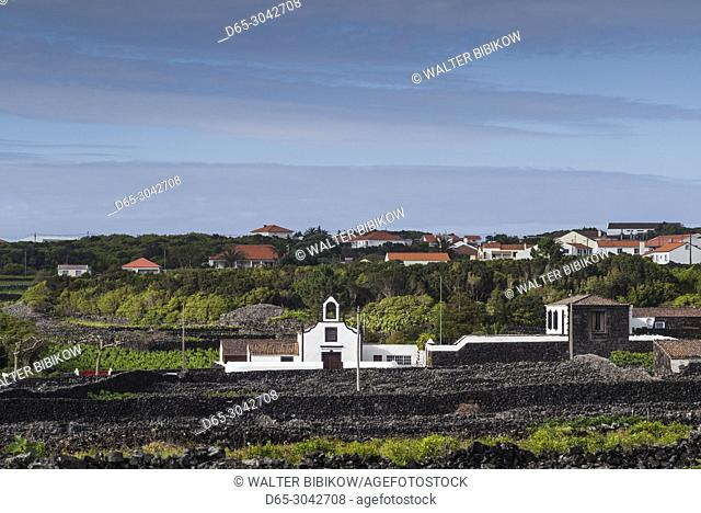 Portugal, Azores, Pico Island, Criacao Velha, village church