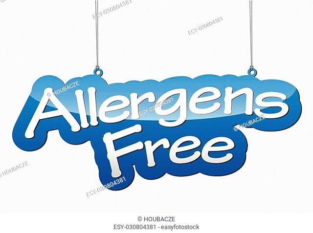 This is blue vector background allergens free