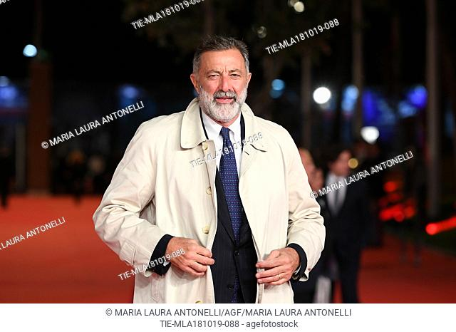 Luca Barbareschi during the red carpet of film Motherless Brooklyn at the 14th Rome Film Festival, Rome, ITALY-17-10-2019