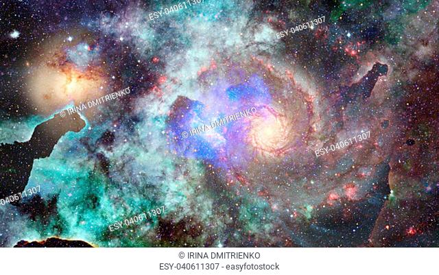 Galaxy and Nebula. Abstract space background. Elements of this Image Furnished by NASA