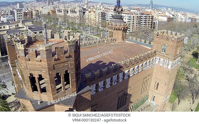 Park of La ciutadella. Barcelona, Spain