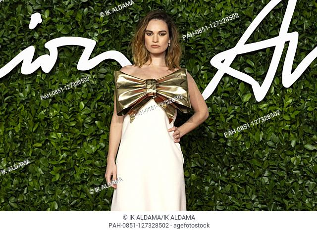Lily James attends The Fashion Awards 2019 at The Royal Albert Hall. London, UK. 02/12/2019 | usage worldwide