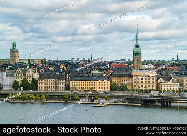 View of Stockholm from Skinnarviksberget in summer