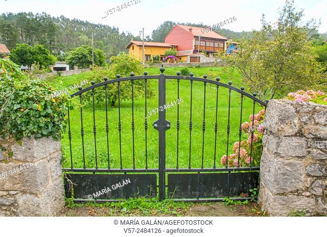 Iron gate. La Franca, Ribadedeva, Asturias, Spain