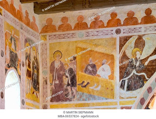 Frescoes in pilgrimage church St. Servatius on the Streichen, parish Schleching, Chiemgau Alps, Chiemgau, Upper Bavaria, Bavaria, Germany