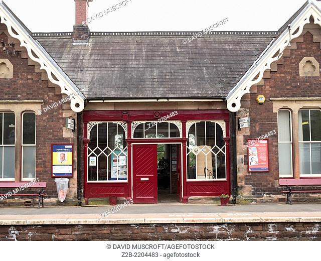 Appleby station, on the Settle to Carlisle Line, Cumbria, UK