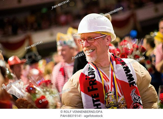 Cologne manager Peter Stöger at a carnival meeting held by the German Bundesliga soccer club in Cologne, Germany, 21 February 2017