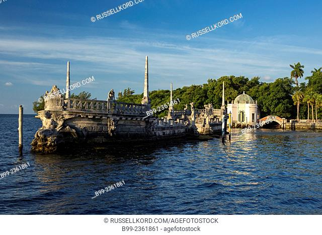 Italian Stone Barge Vizcaya Museum Coconut Grove Biscayne Bay Miami Florida Usa