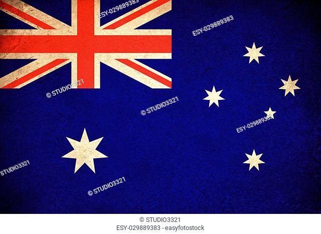 Australia grunge flag illustration of australian country