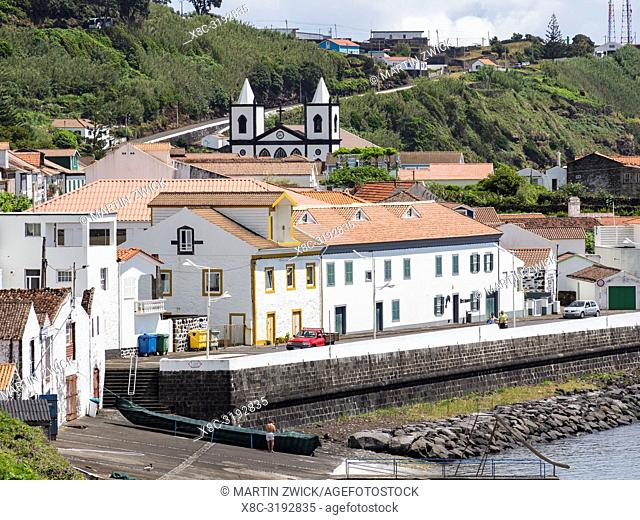 Village Lajes do Pico on Pico Island, an island in the Azores (Ilhas dos Acores) in the Atlantic ocean. The Azores are an autonomous region of Portugal