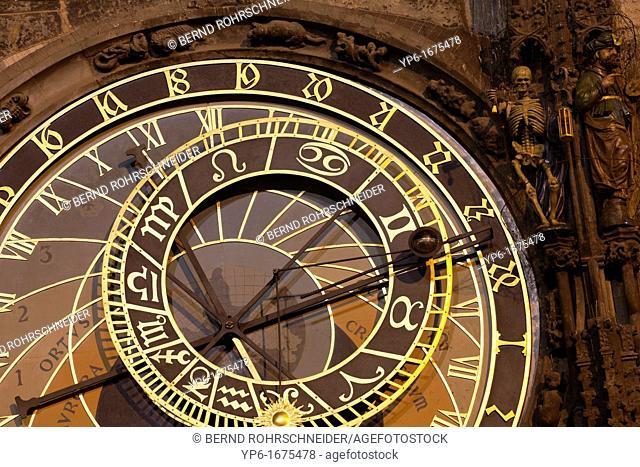 Astronomical Clock at the town hall, Prague, Czech Republic