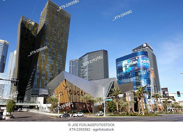 citycenter development including the veer towers and cosmopolitan Las Vegas Nevada USA