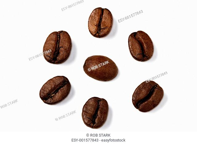 coffee beans bullseye