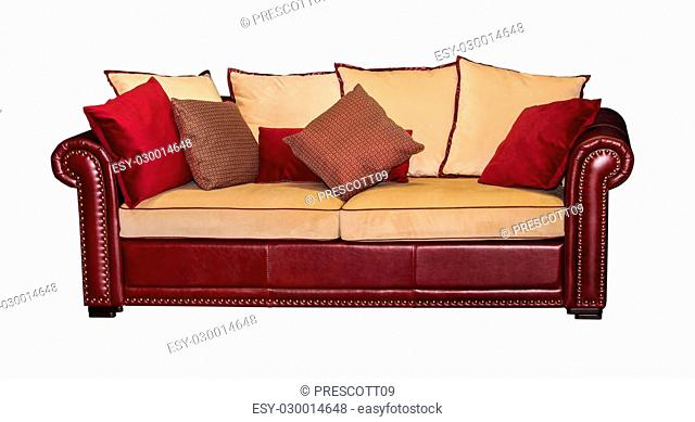 Brilliant Decorative Pillows On Brown Sofa Stock Photos And Images Alphanode Cool Chair Designs And Ideas Alphanodeonline