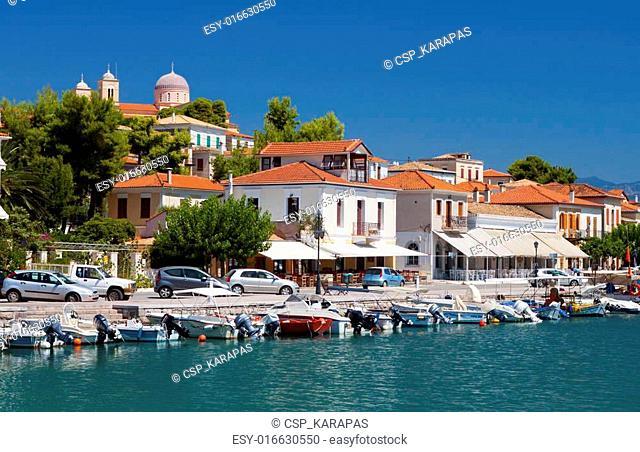 Scenic fishing village of Galaxidi in Greece