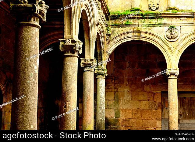 Cloister of the monastery of Montederramo, Orense, Spain