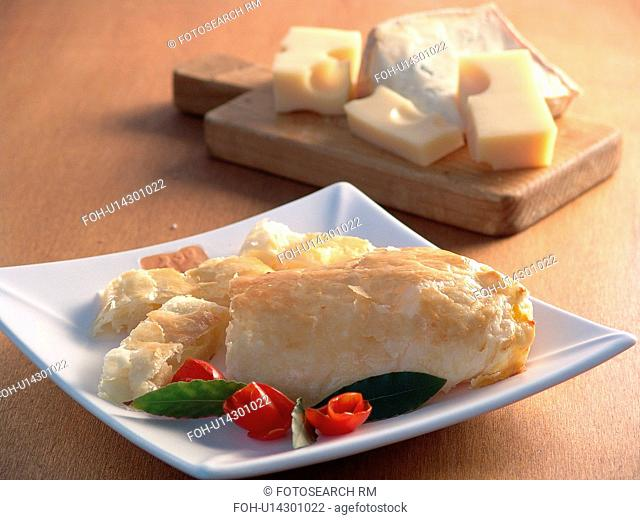 Flaky pastry envelope with cheese filling