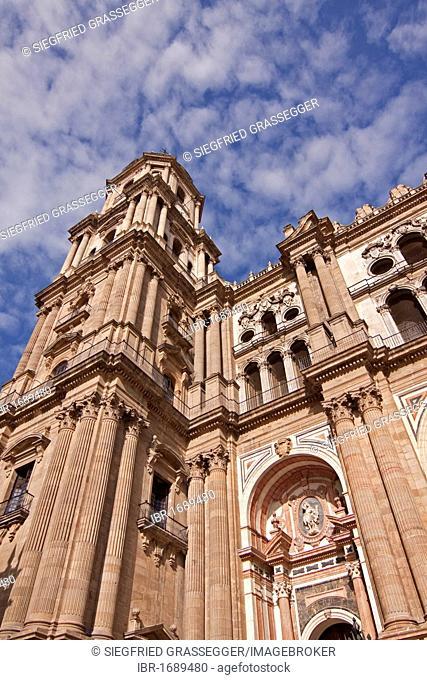 Malaga Cathedral, Santa Iglesia Catedral Basilica de la Encarnacion Cathedral, nicknamed La Manguita by the locals, Spanish for the one-armed woman